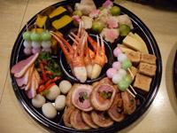 堺筋本町の日本紐釦の側の居酒屋【京のおばんざい小町】オードブルセット1