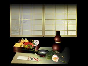 堺筋本町の日本紐釦の側の居酒屋【京のおばんざい小町】おせち料理イメージ