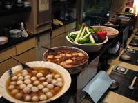 堺筋本町の日本紐釦の側の居酒屋【京のおばんざい小町】店内写真2(カウンター)